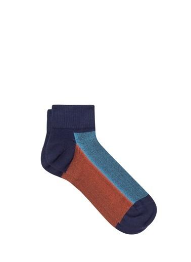 Mavi  Patik Çorap Lacivert